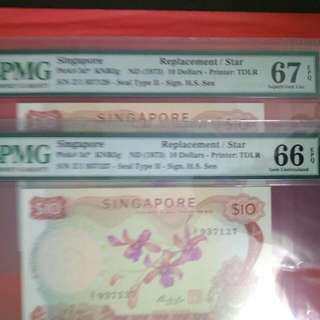 Singapore Orchid S10 Z1 Replacement X 2 Run Superb Gem Unc