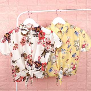 Floral Summer Coordinate Top with Collar
