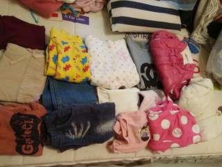 ($100/14件) 二手女童衫(1至2歲)