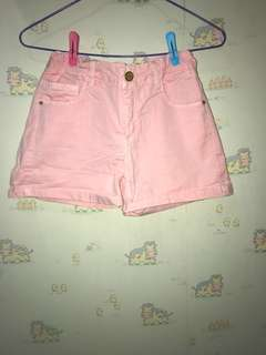 Zara Kids Pink Shorts 粉紅短褲