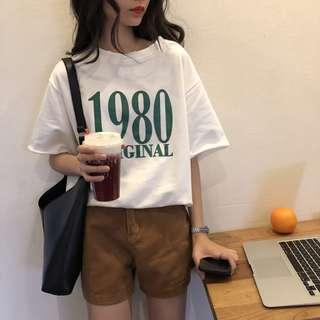 全新 女裝 R461613 簡約打底衫女上衣寬松顯瘦圓領短袖T恤學生