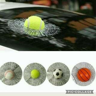 3D Auto Car Ball Hits Styling Body Window Sticker Self Adhesive