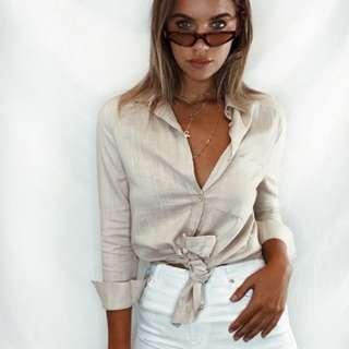 Linen Beige Shirt