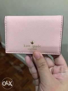 Kate spade cedar st melanie card holder pink