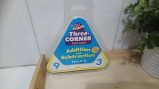 [FreeMail] Addition&Subtraction Three-Corner Flash Cards $20