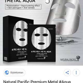 Natural Pacific Premium Metal Aqua Mask
