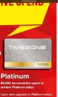 Timezone platinum card
