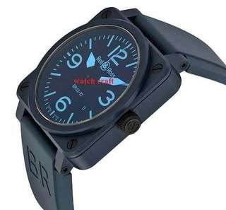 USED BELL & ROSS - AVIATION BR 03-92 BLUE CERAMIC 42MM FULL SET (YEAR 2016) - Our price : RM9800.00 Incl. 6% Gst