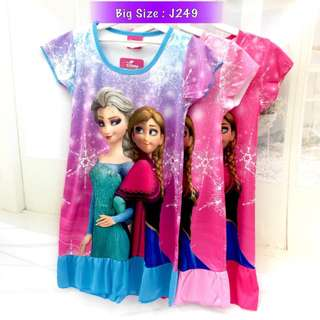 Buy any 3 @ RM33 ❤Bargain Sale❤ Frozen Sister Jersey Dress J249 #20under
