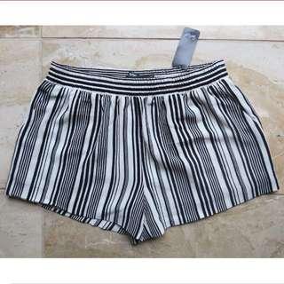 Sports Girl B&W Stripe Shorts