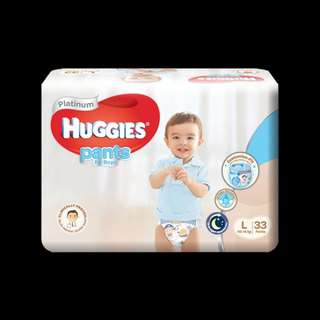 Huggies Platinum Pants Boy L *Reduced*