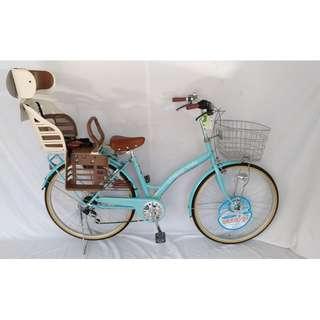 進口日本(精品)親子淑女腳踏自行單車配裝日本原廠OGK後童座椅型號: RBC-007DX3(附頭靠) 1號車