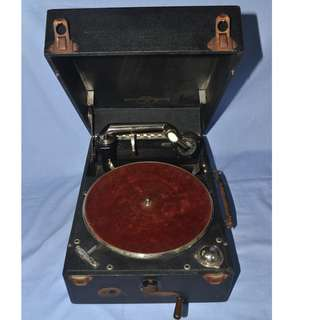 ANTIQUE COLOMBIA GRAFONOLA USA MECHANICAL HAND CRANK GRAMOPHONE