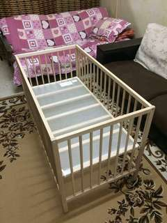 Ikea Baby Cot - full set