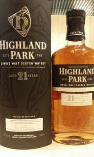 Highland Park 21, Single Malt Scotch Whisky