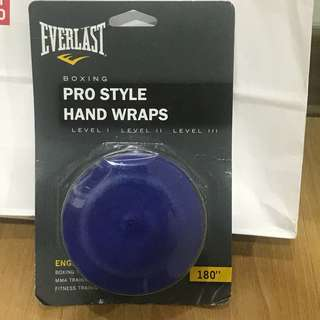Everlast Muay thai boxing stretchable Hand wraps 5m blue