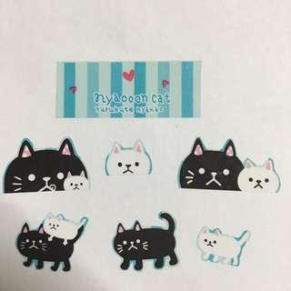 可愛貓咪貼紙