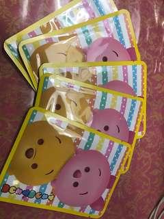 Disney tsum tsum 5 pcs facial mask