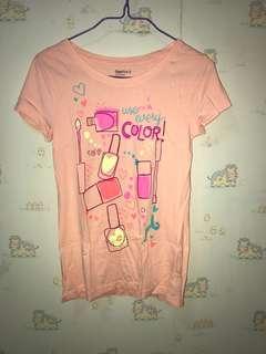Gap Kids 橙粉紅Tshirt