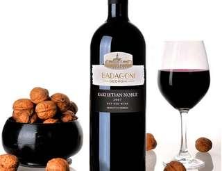 Georgian Red Wine Badagoni Kakhetian Noble 2007
