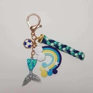 *SOLD* Underwater theme keychain