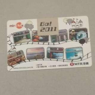 MTR MTR Club  2011年曆卡一張