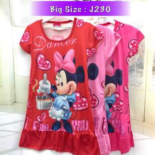 Buy any 3 @ RM33 ❤Bargain Sale❤ Minnie Mouse Jersey Dress J230~ Small Version