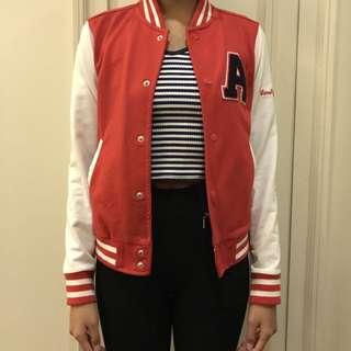 Red & White Varsity Jacket