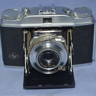 VINTAGE ANTIQUE AGFA SOLINETTE II GERMANY FOLDING CAMERA CIRCA 1952