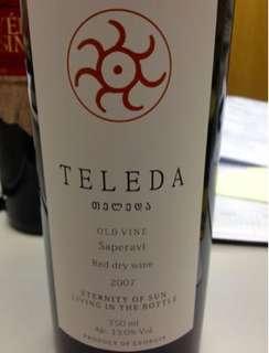 Georgian Red Wine Teleda Saperavi