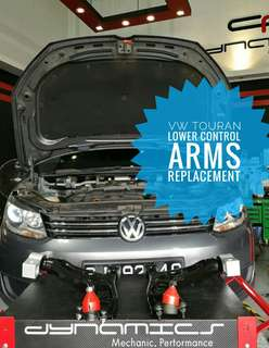 Volkswagen Touran : Front_Lower_Control_Arms Replacement