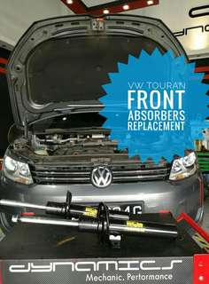 VW Volkswagen Touran : Front_Absorbers Replacement.