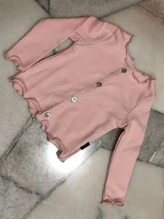 Baby girl romper + cardigan