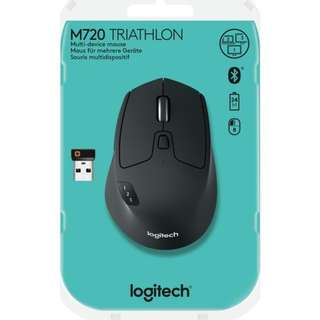 Logitech M720 Triathalon Multi-Device Wireless / Bluetooth Mouse with FLOW Cross-Computer Control and File Sharing for PC and Mac, Easy-Switch up to 3 Devices ( 1 yr Local Warranty )