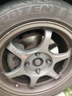 Mitsubishi lance upgrade use big brake kit