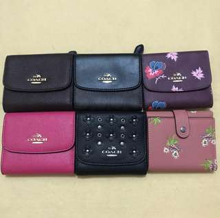 AUTHENTIC COACH FOLD SMALL WALLET