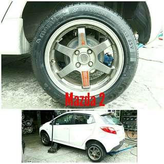 Tyre 195/55 R15 Membat on Mazda 2 🐕 Super Offer 🙋♂️