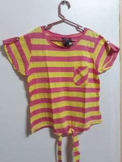 Yellow & pink stripe Blouse