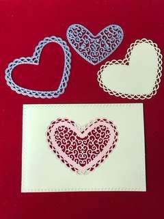 Heart #7 Scrapbooking Cutting Dies 2pc set