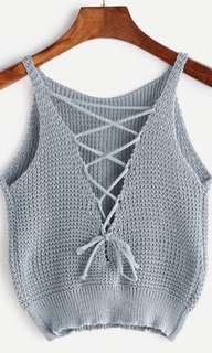 Brand New Soft Grey Crop