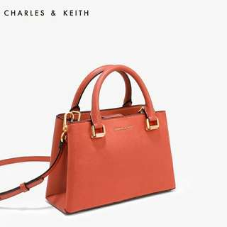 Charles & Keith top handled mid size bag (wechat : Strawmint)