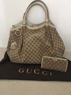Gucci Large Sukey Tote plus free wallet