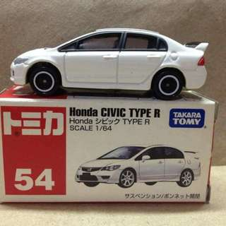 Tomica No 54 Honda Civic Type R