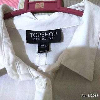 Topshop cold shoulder top