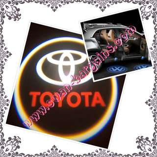 2pcs Toyota Logo Magnetic Wireless Car Door Ghost Shadow Courtesy Greetings External Stand-alone Projector LED Light