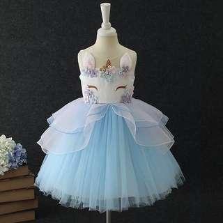 Fancy unicorn dress for girls