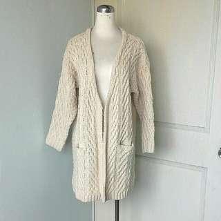 米白色針織編織外套#女裝半價