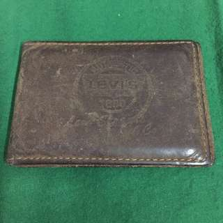 Levi's Slim Capacity Billfold  Leather (Brown)  Card Holder Case