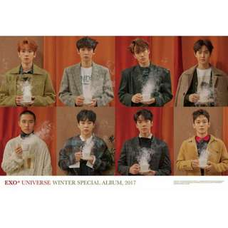 BRAND NEW exo universe group poster