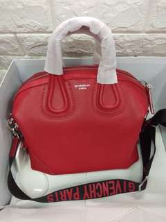 Authentic Grade Only- Givenchy Nightingale Medium Size in Red Rouge